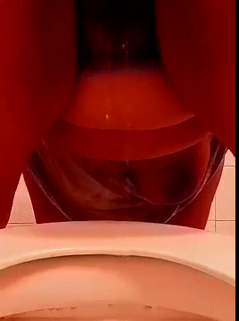 Thick Girl With Hairy Pussy Pisses Bent Over Into The Toilet